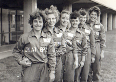 Head Coach Marjorie Carter with the 1960 Ladies Olympic Team