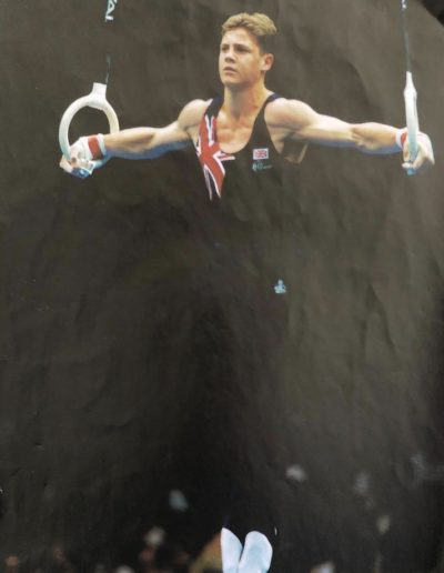 Dominic Brindle competing at the Atlanta Olympics in 1996