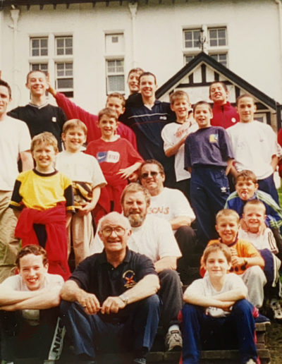 Mike Talbot at a training camp in Largs with Warren Slingsby, Dave Murray, Andy Butcher and Tom Rawlinson