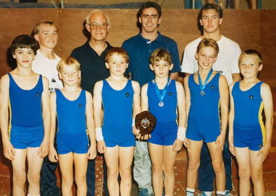 Mike Talbot with a Boys Team inc. Chris Low in 1989