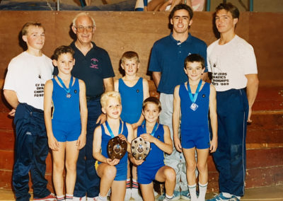 Mike Talbot with a Boys Team inc. Matthew Hewitt in 1989