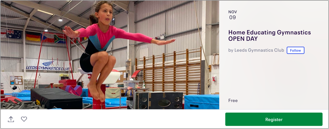 Home Educating Gymnastics Open Day