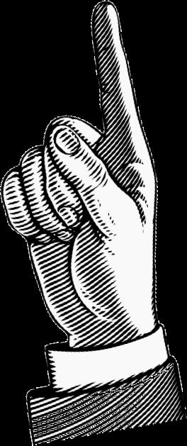 upward pointing hand