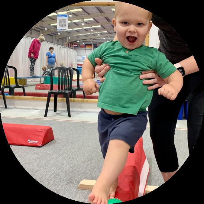 parent and toddler gymnastics in Leeds - hp round
