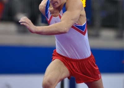 2009 World Championships in London - Theo Seager GBR on Vault