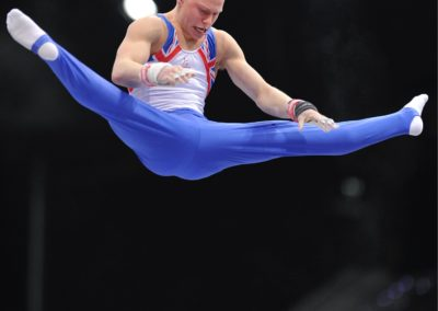 2010 World Championships Rotterdam - Theo Seager GBR on High Bar