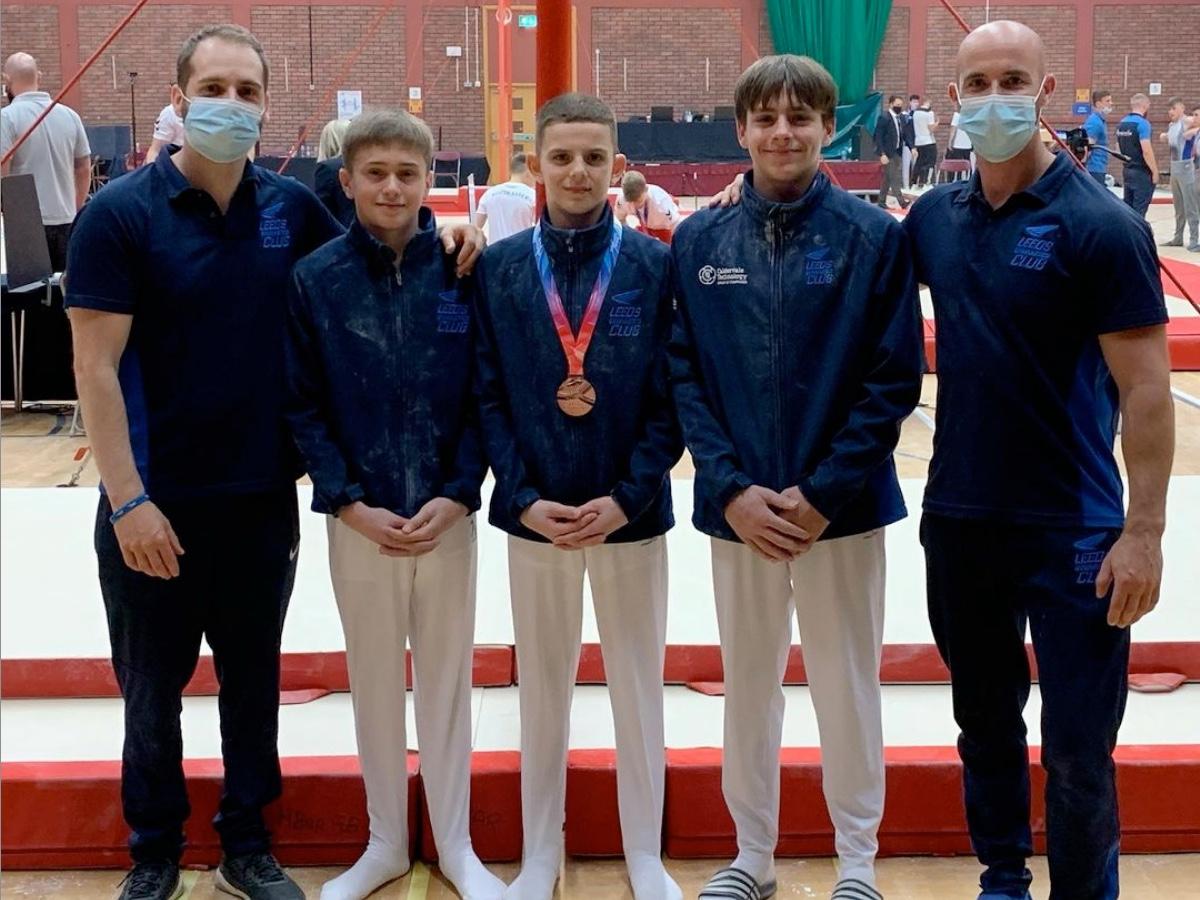 Leeds Under 16 Men's Gymnasts at the British Championships 2021