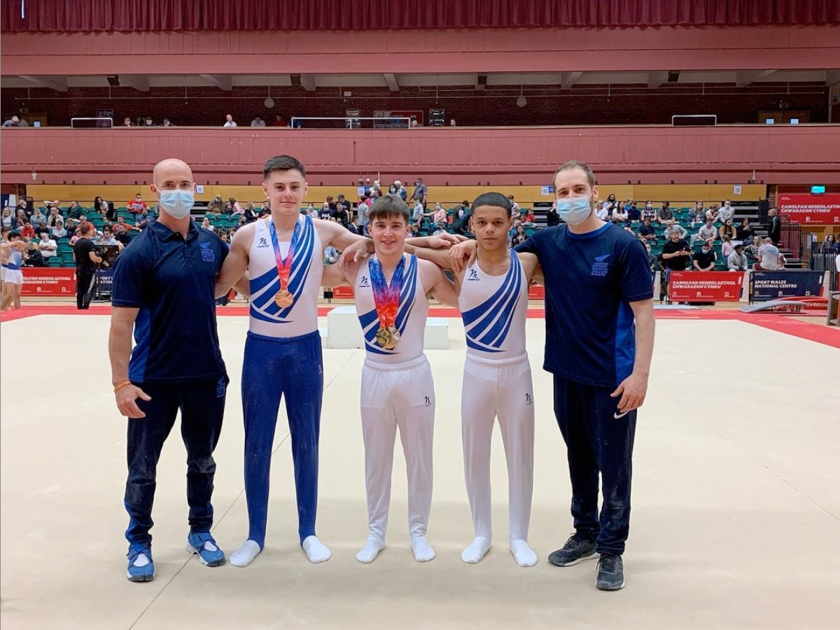 Leeds Under 18 Men's Gymnasts at the British Championships 2021